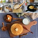 横浜ウッドの木製キッチンツールを使ってホットケーキ作り♪
