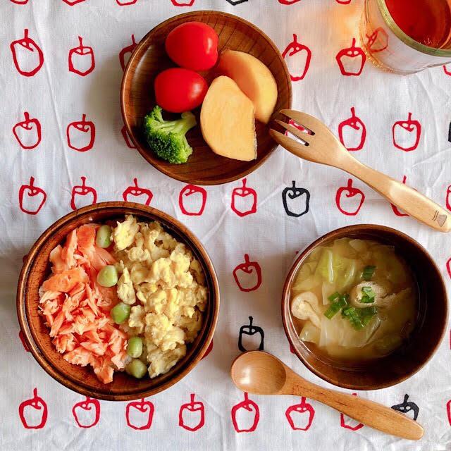 なつめ食育セット 大人も子供も使いやすい 万能木製食器!