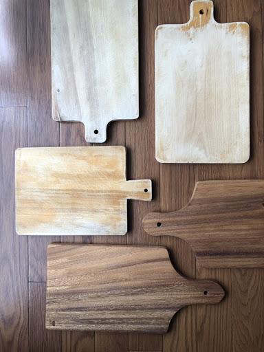 お手入れ簡単2ステップ!長く使えるカッティングボード形状の アカシアまな板