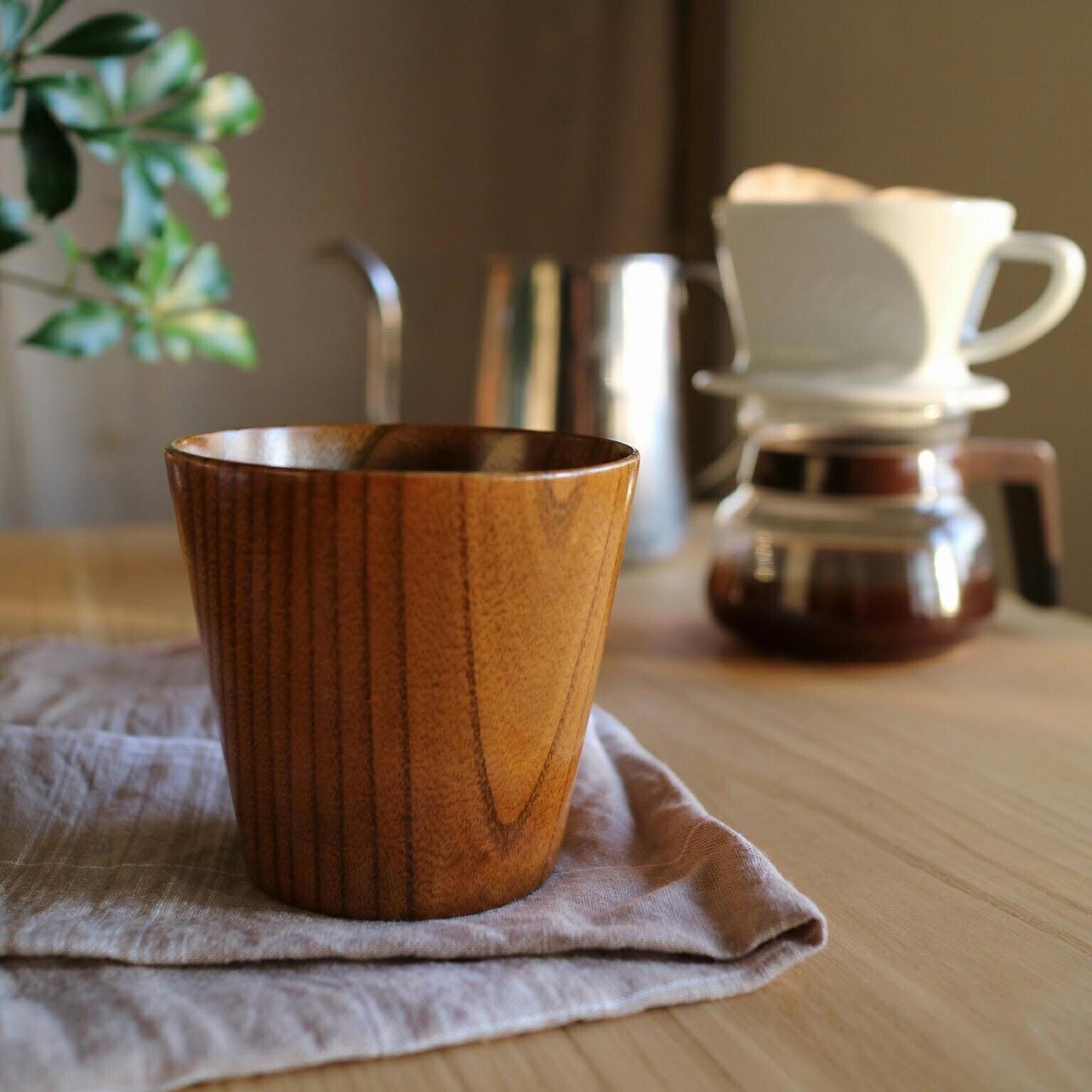 365日つかえる 天然木で作った限定の木製マグ