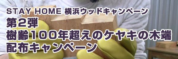 STAY HOME 横浜ウッドキャンペーン第2弾:樹齢100年超えのケヤキの木端・配布キャンペーン